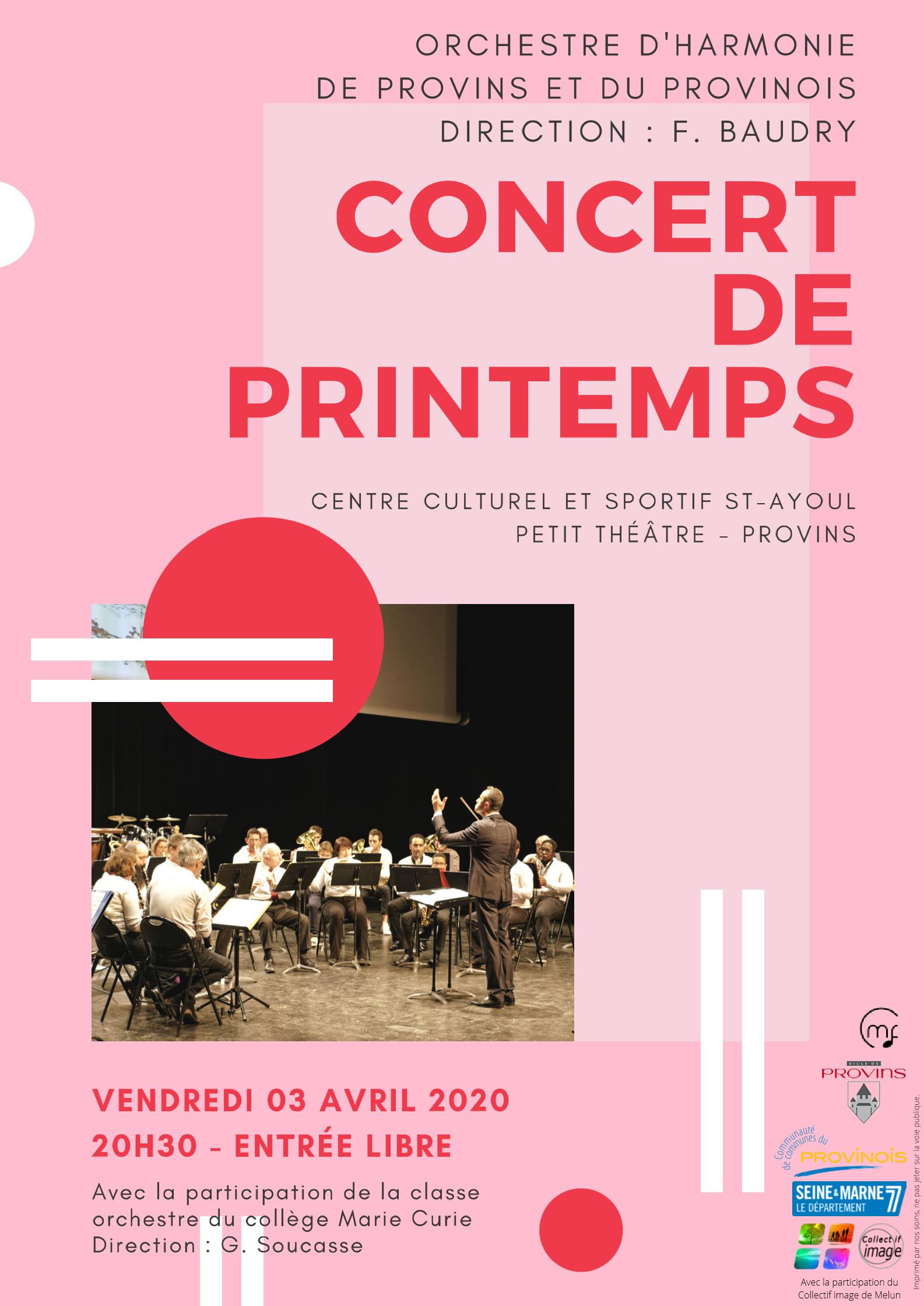 Orchestre d'harmonie de Provins et du Provinois @ Centre culturel Provins