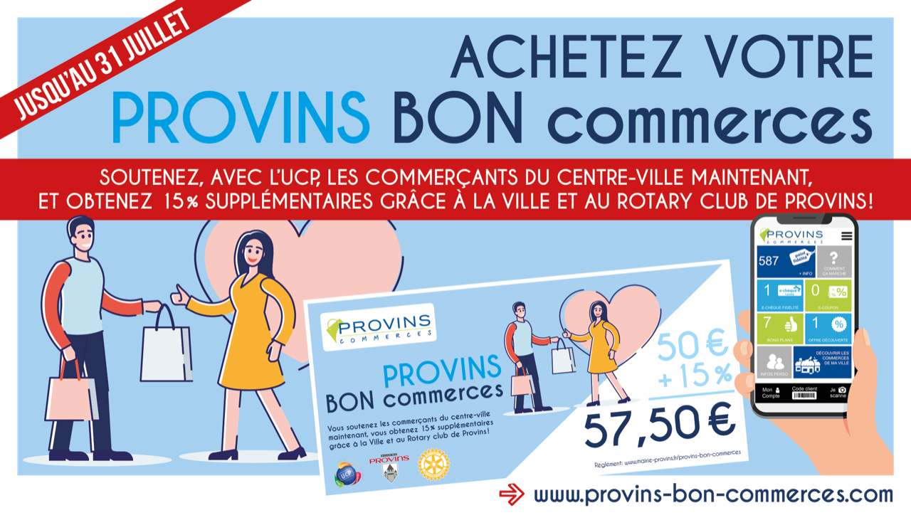 Soutenir les commerçants de Provins avec Provins Bon Commerce
