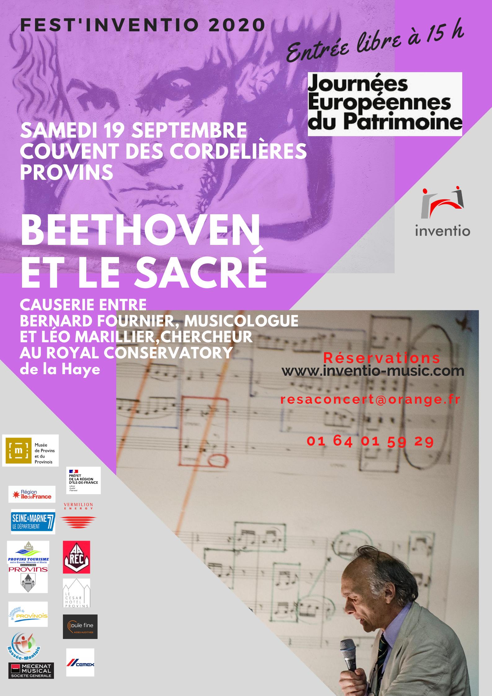 FEST'INVENTION BEETHOVEN ET LE SACRÉ @ Couvent des Cordelières
