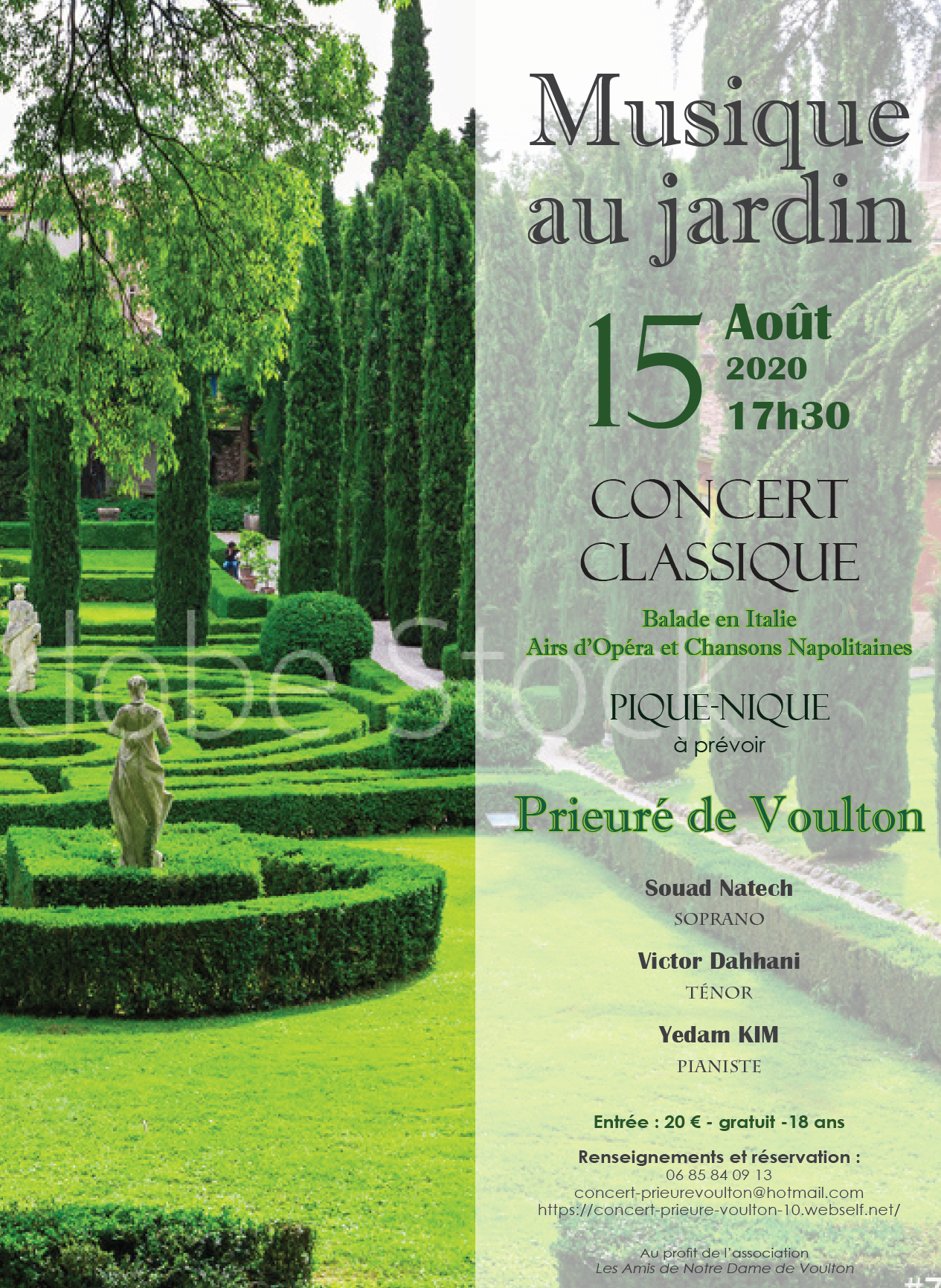 LES AMIS DE NOTRE DAME DE VOULTON - Concert classique au Prieuré @ Prieuré de Voulton