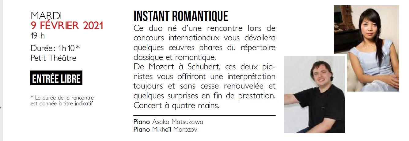 Concert - Instant Romantique @ Petit Théâtre