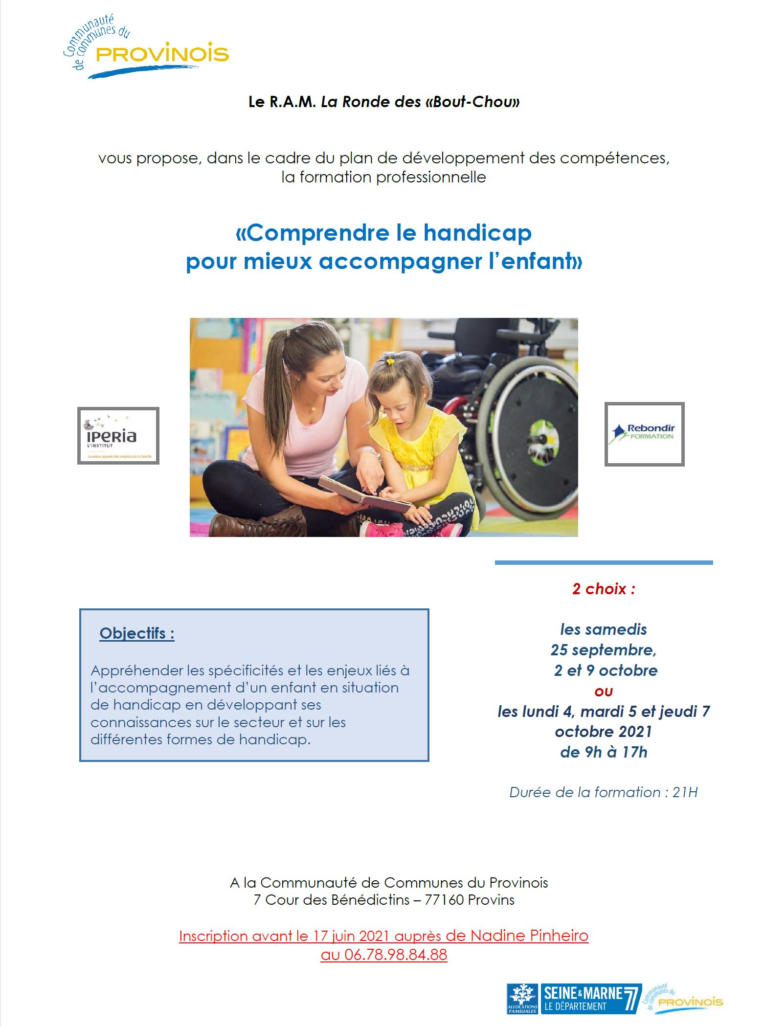 RAM - Comprendre le handicap pour mieux accompagner l'enfant
