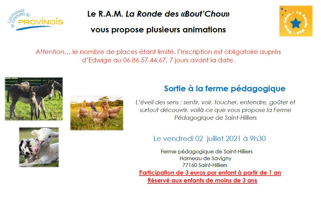 Ronde Bout'chou - Atelier à la ferme pédagogique