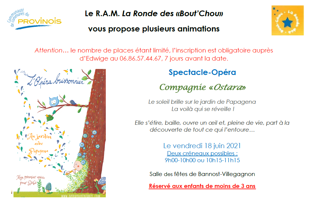"""Ronde """"Bout'Chou"""" - Spectacle opéra"""