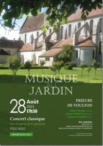 Concert classique - Musique au jardin @ Prieuré de Voulton