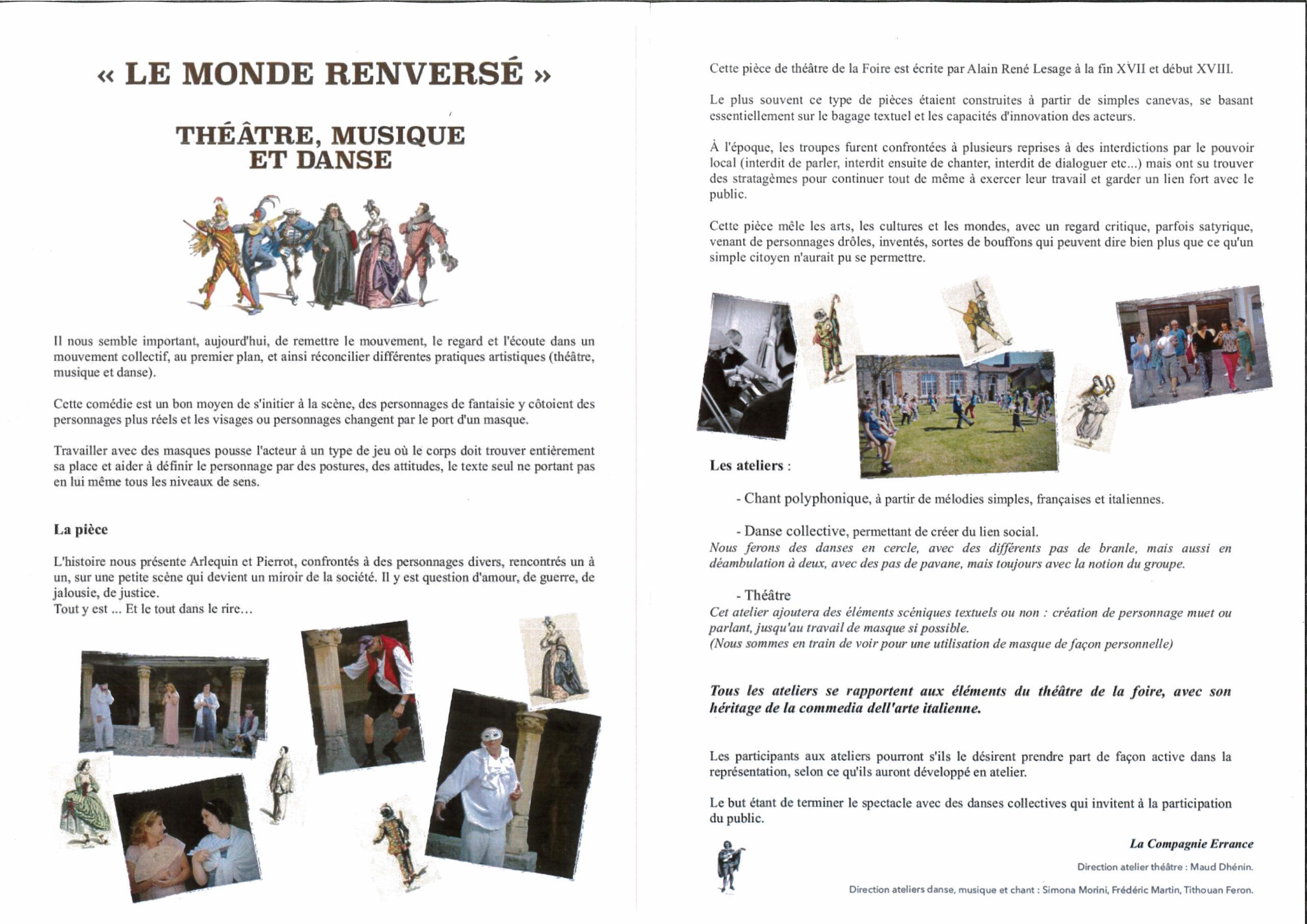 You are currently viewing ERRANCE : Le Monde Renversé – Programme 2021
