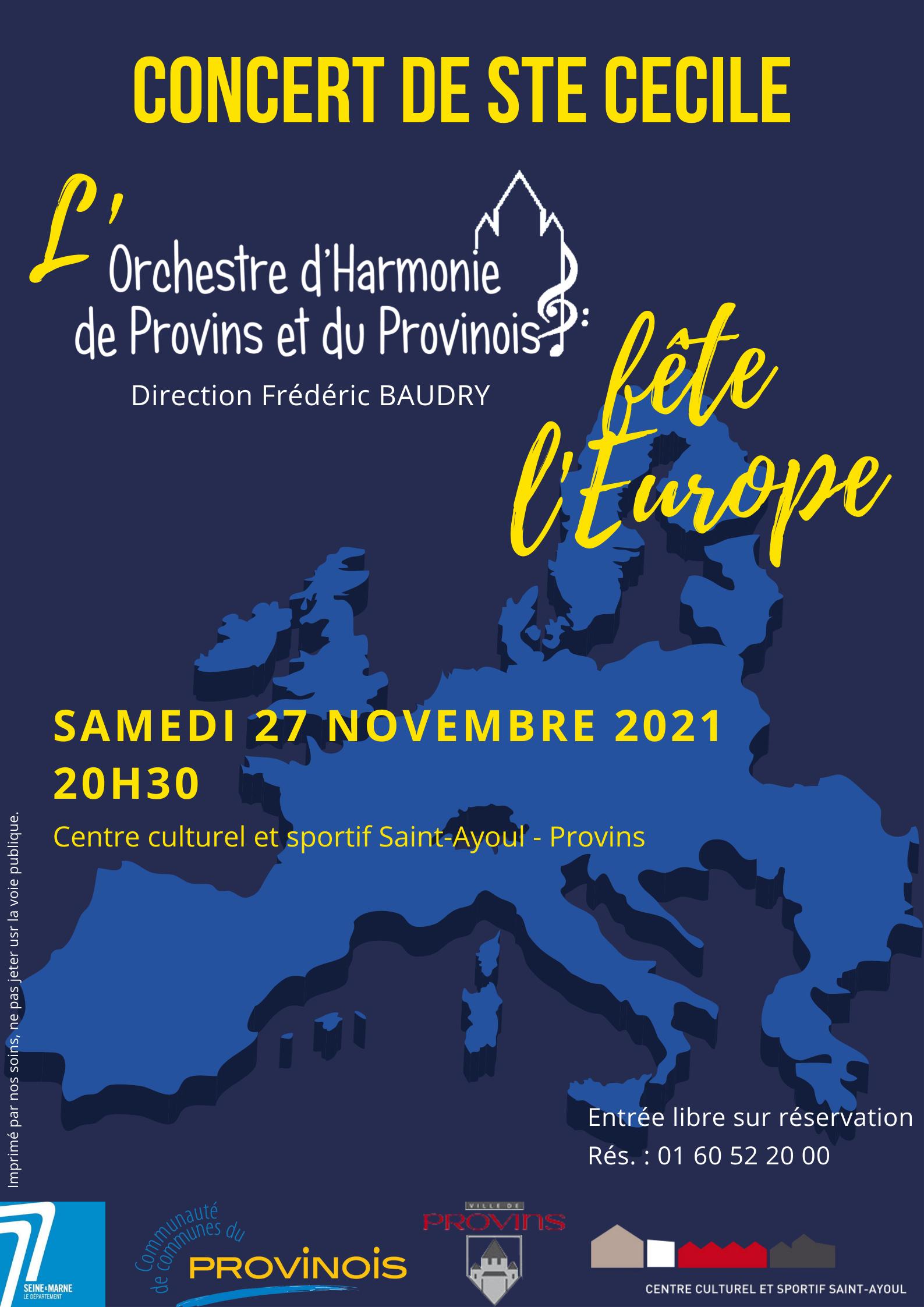 CONCERT DE LA SAINTE CECILE @ Centre Culturel et Sportif Saint-Ayoul