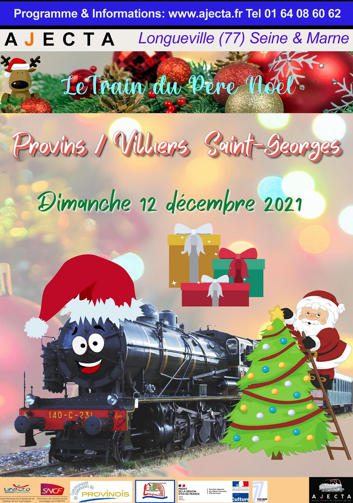 TRAIN DU PERE NOËL @ PROVINS - VILLIERS SAINT GEORGES